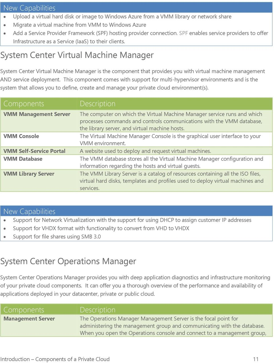 System Center Virtual Machine Manager System Center Virtual Machine Manager is the component that provides you with virtual machine management AND service deployment.