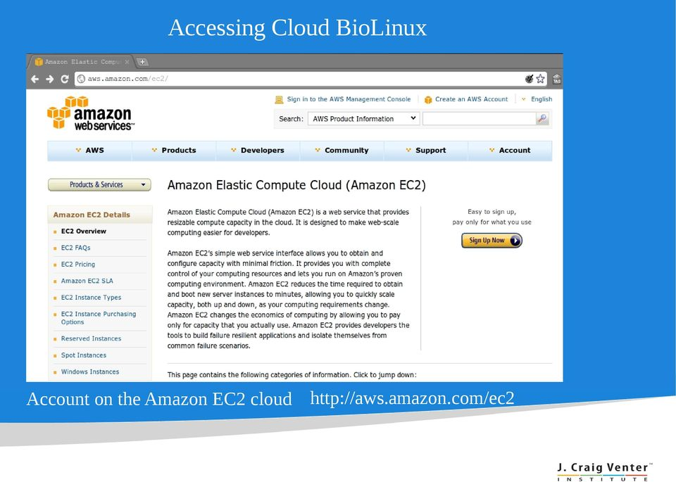 the Amazon EC2 cloud