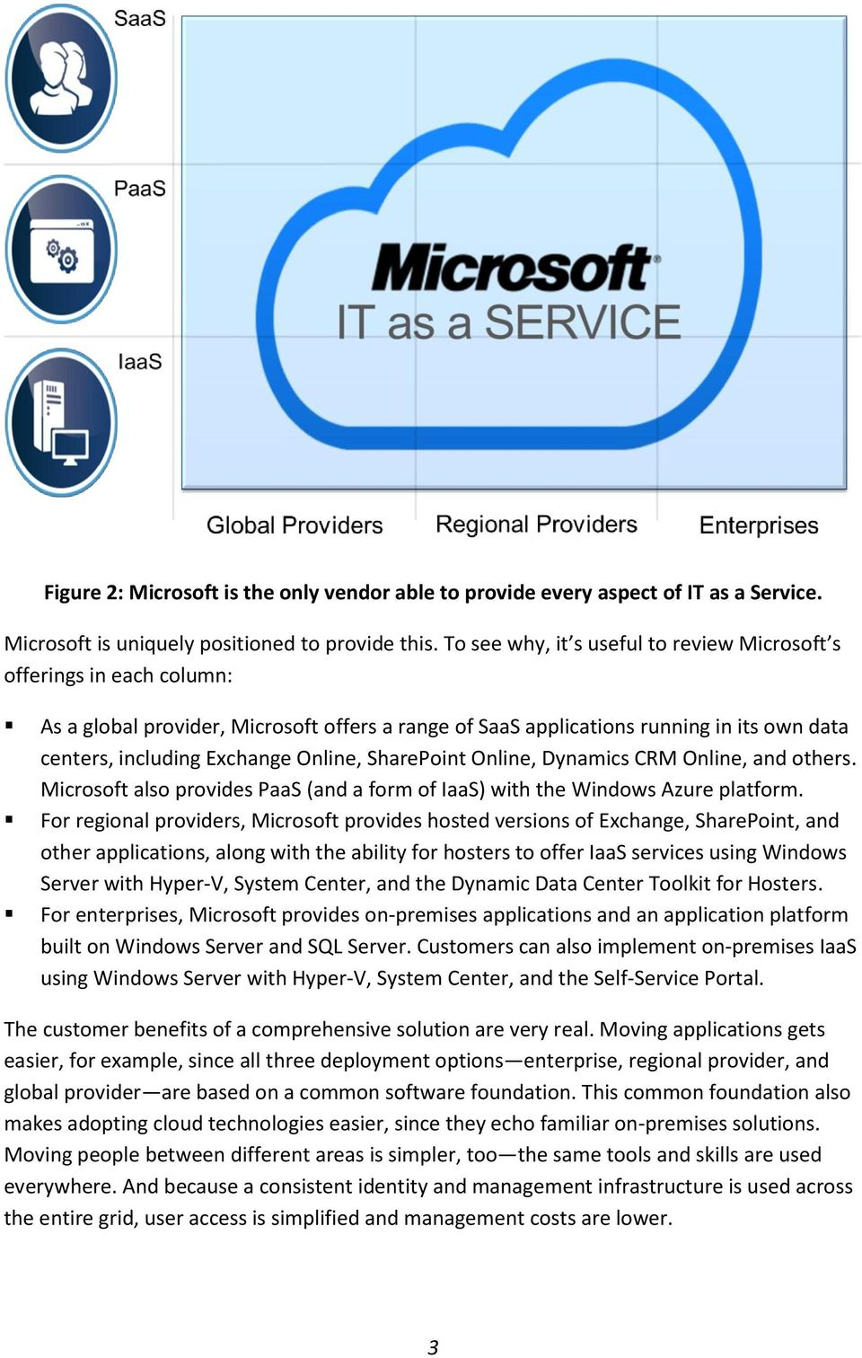 SharePoint Online, Dynamics CRM Online, and others. Microsoft also provides PaaS (and a form of IaaS) with the Windows Azure platform.
