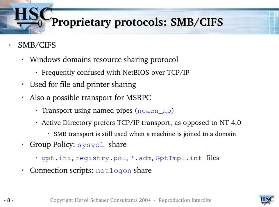 (ncacn_np) Active Directory prefers TCP/IP transport, as opposed to NT 4.