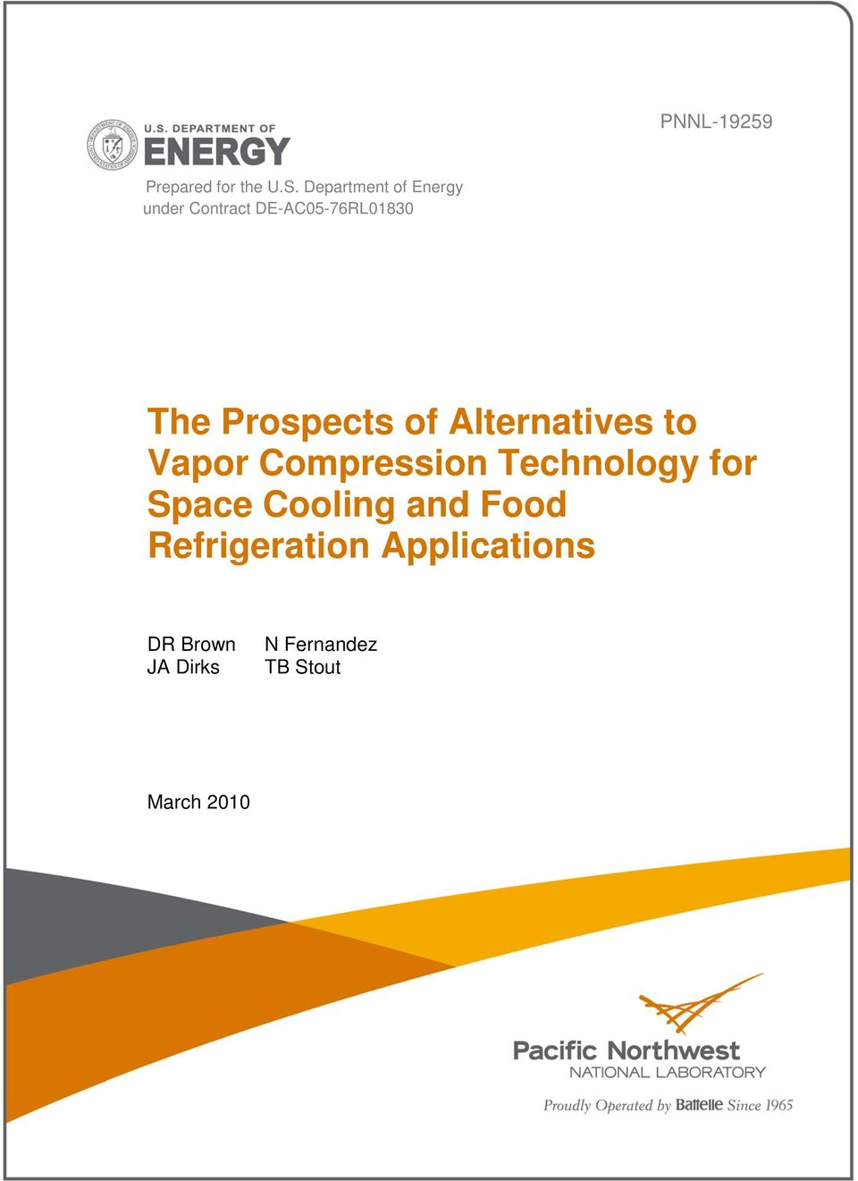 Prospects of Alternatives to Vapor Compression Technology for