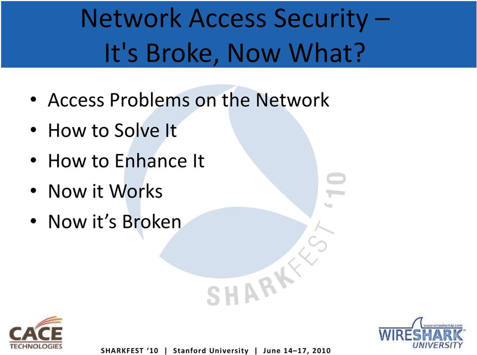 Access Problems on the Network How