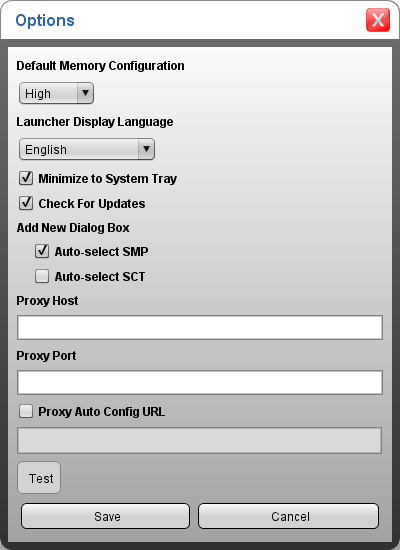 Figure 26: Application Options Screen Three options are proxy settings that you need to configure if the building network uses a proxy server for connection to the Internet: Proxy Host: IP address of
