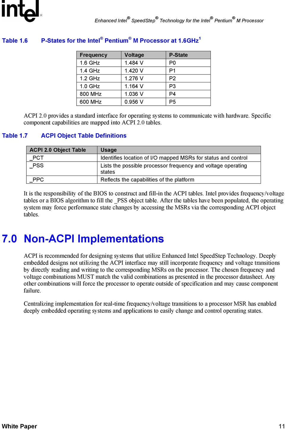 7 ACPI Object Table Definitions ACPI 2.