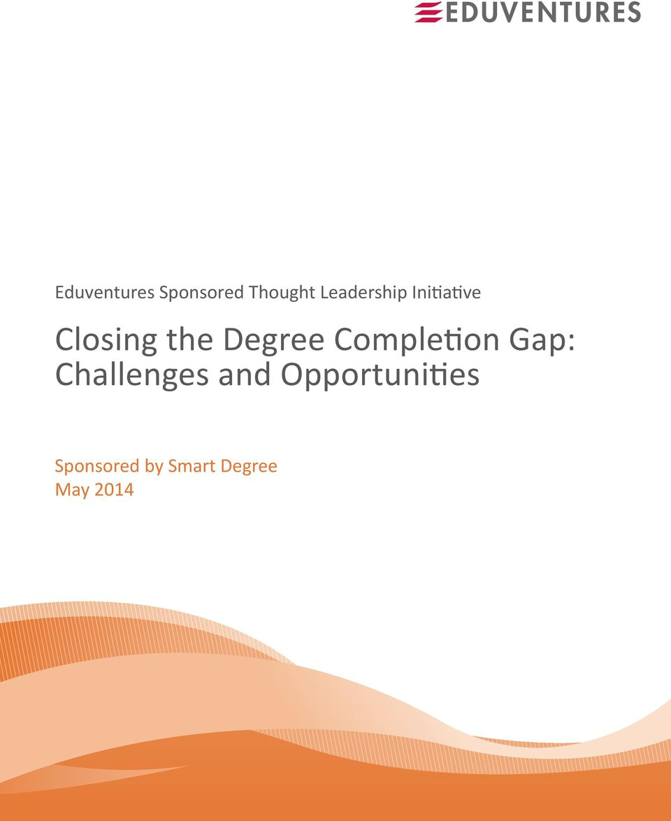 Degree Completion Gap: Challenges and