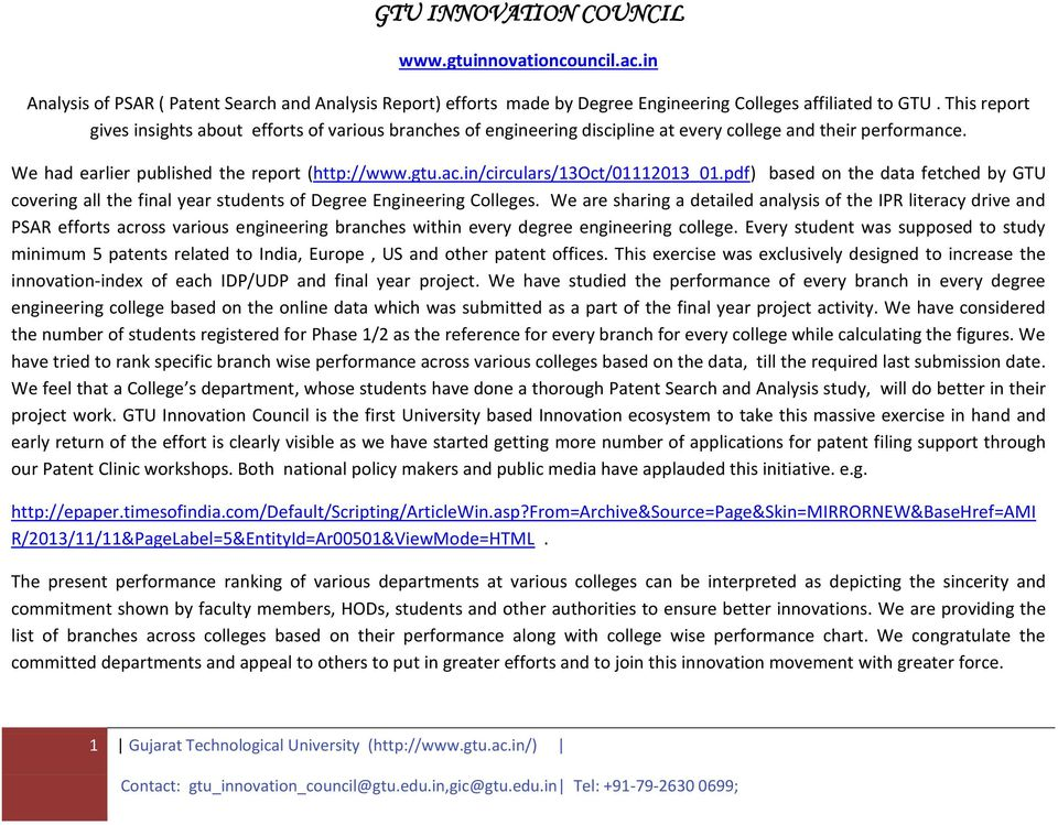 in/circulars/13oct/01112013_01.pdf) based on the data fetched by GTU covering all the final year students of Degree s.