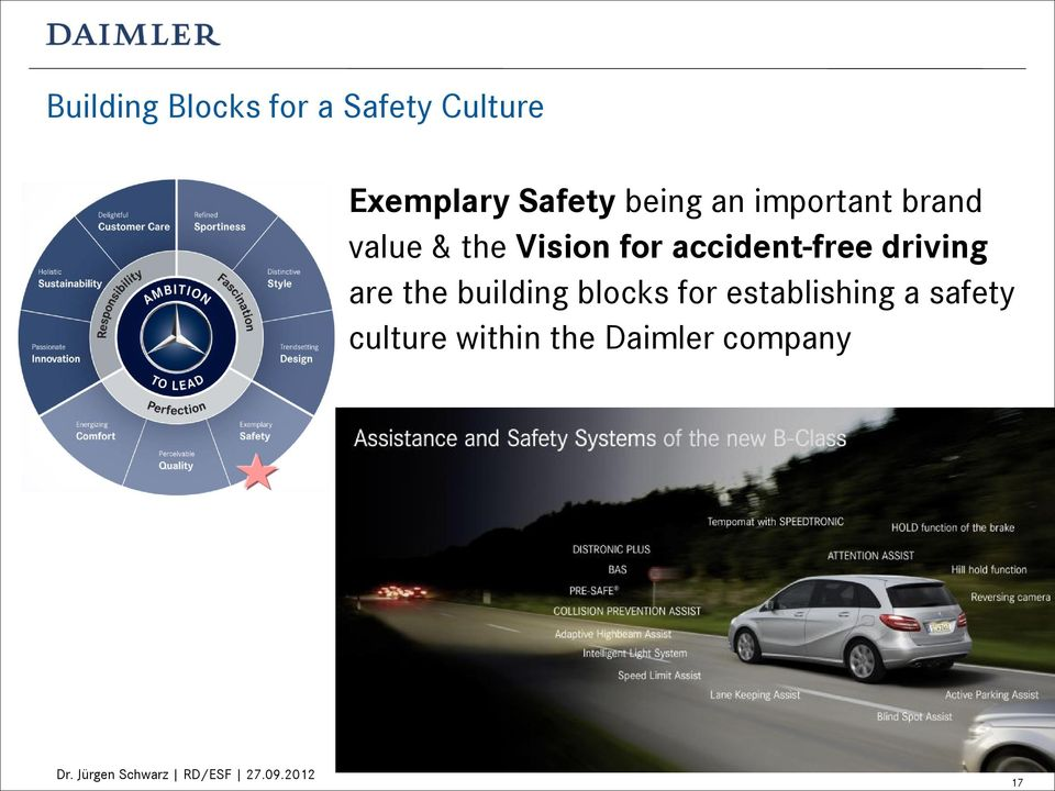 for accident-free driving are the building blocks