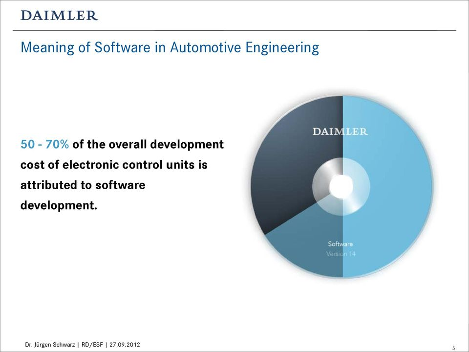 development cost of electronic control