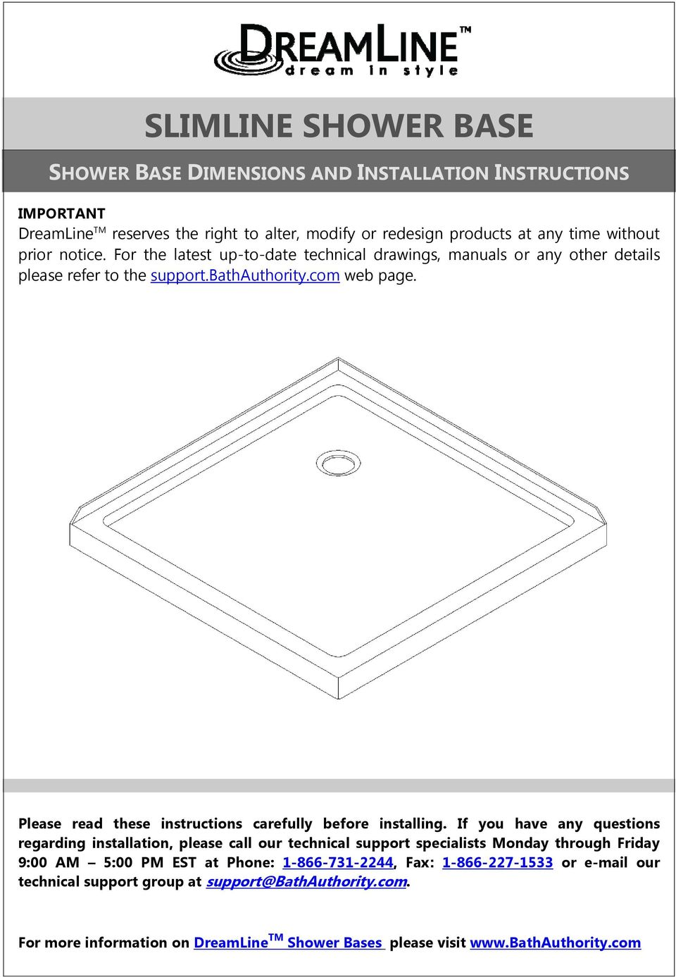 Please read these instructions carefully before installing.