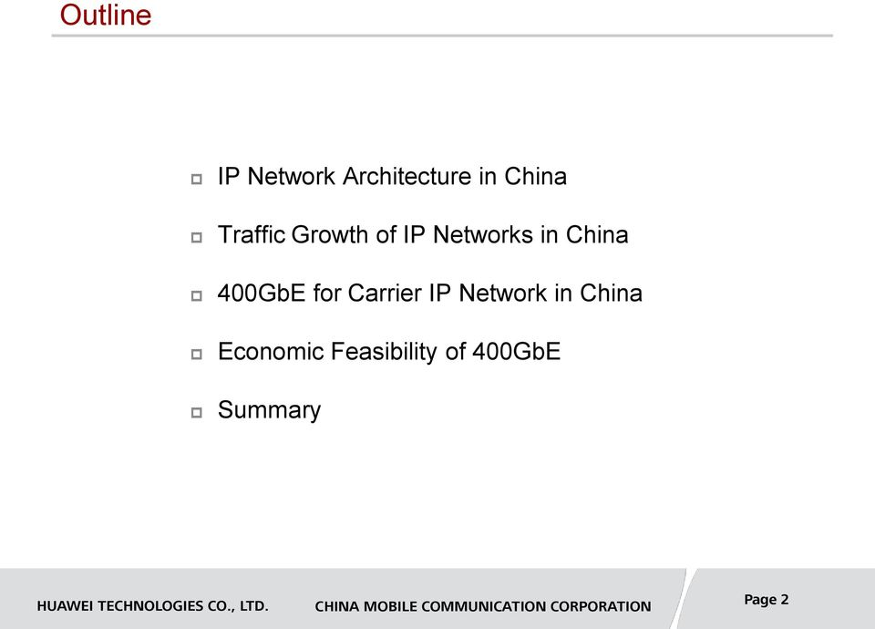 400GbE for Carrier IP Network in China