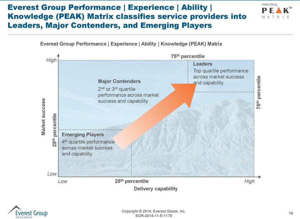 Contenders 2 nd or 3 rd quartile performance across market success and capability 75 th percentile Leaders Top quartile performance across market