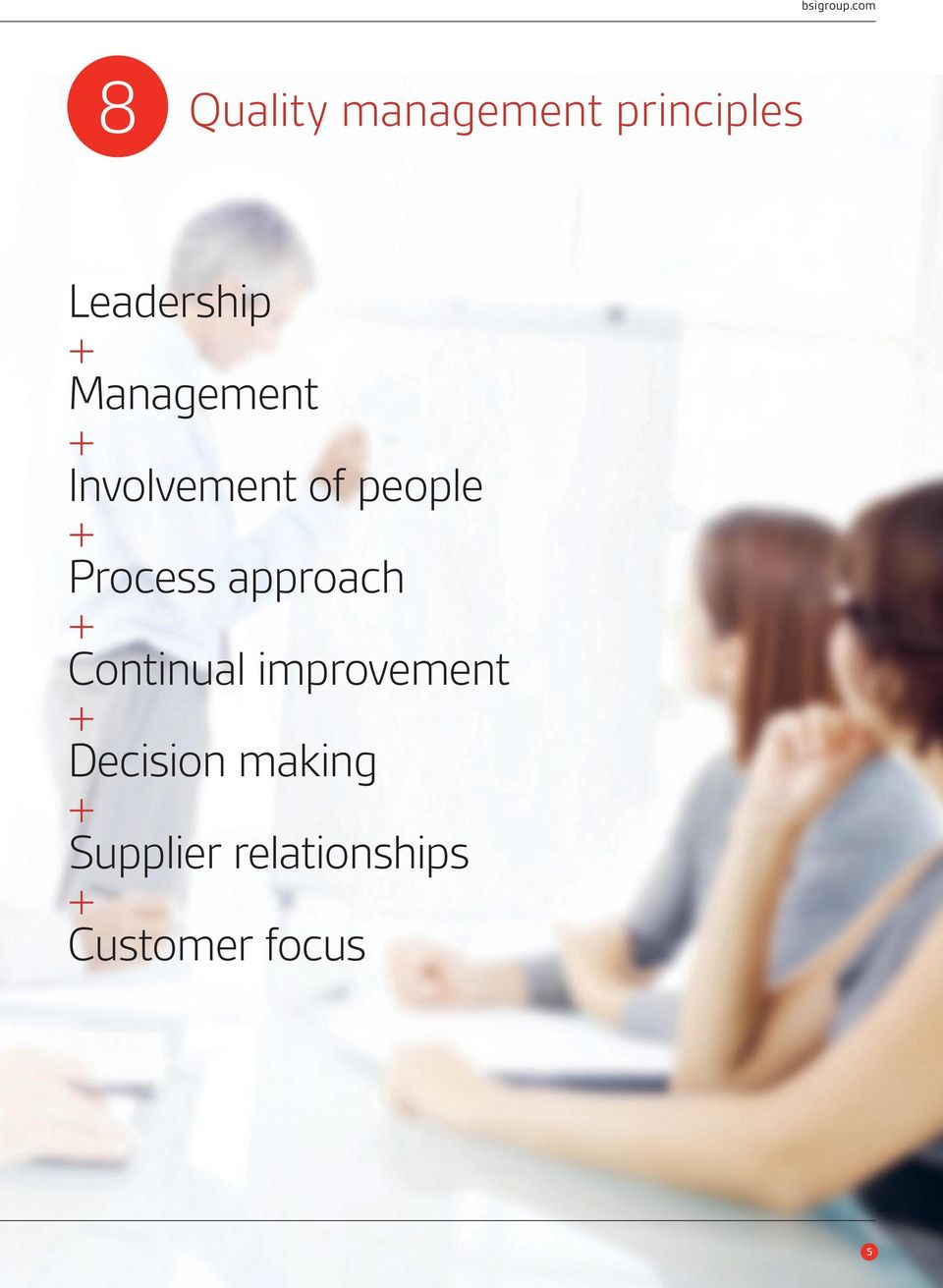 Management + Involvement of people + Process