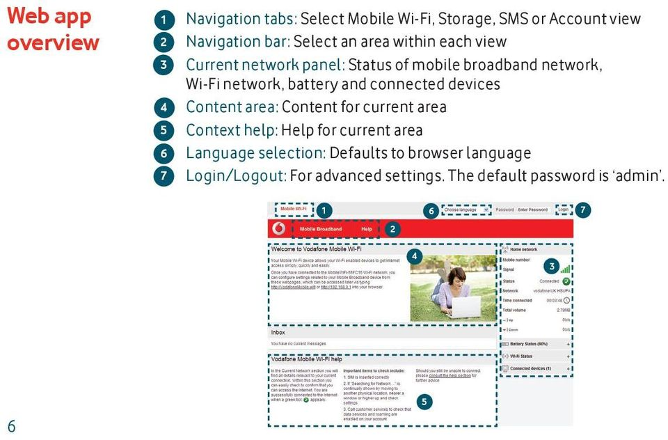 and connected devices Content area: Content for current area Context help: Help for current area Language