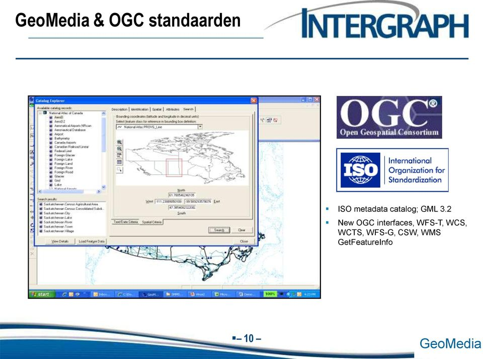 2 New OGC interfaces, WFS-T, WCS,