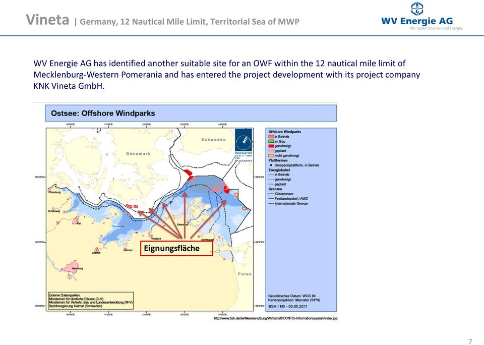 the 12 nautical mile limit of Mecklenburg-Western Pomerania and has