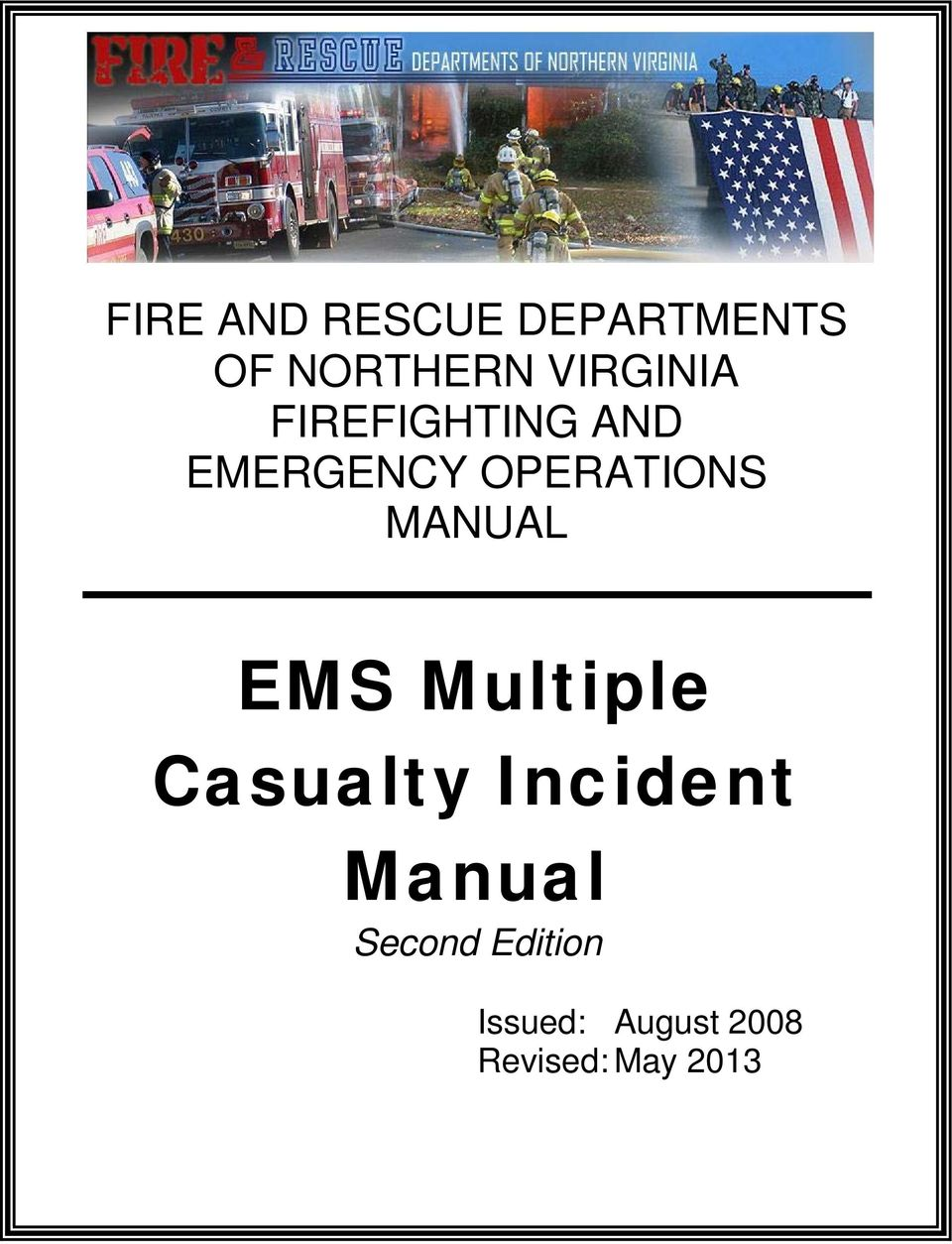 OPERATIONS MANUAL EMS Multiple Casualty