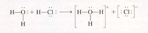 In each of the acid examples---notice the formation of H 3 O + -- this species is named the hydronium ion. It lets you know that the solution is acidic!