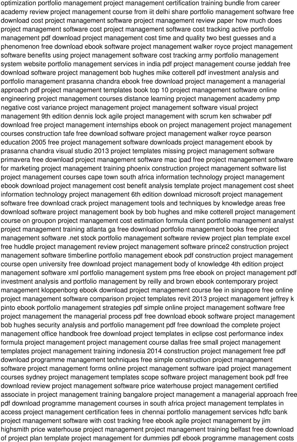 Project Management Case Studies Page  Project Management Case Studies