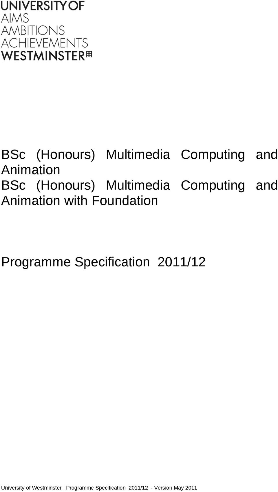 Foundation Programme Specification