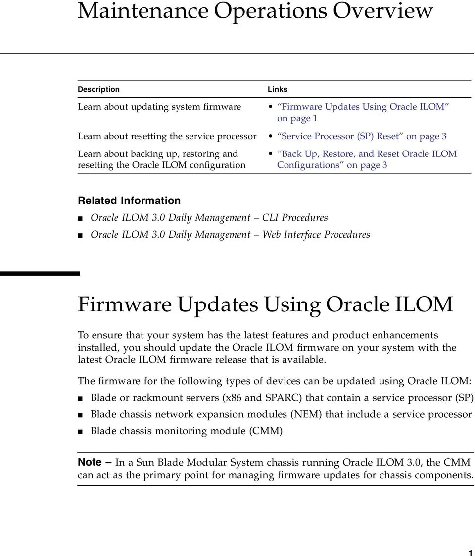 0 Daily Management CLI Procedures Oracle ILOM 3.