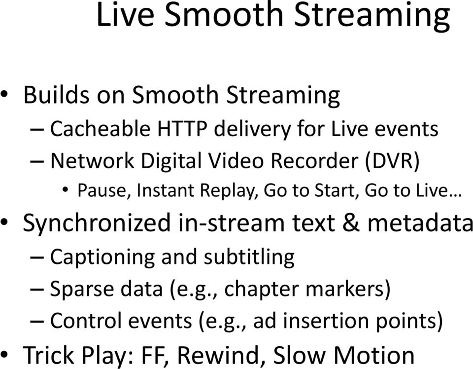 Live Synchronized in-stream text & metadata Captioning