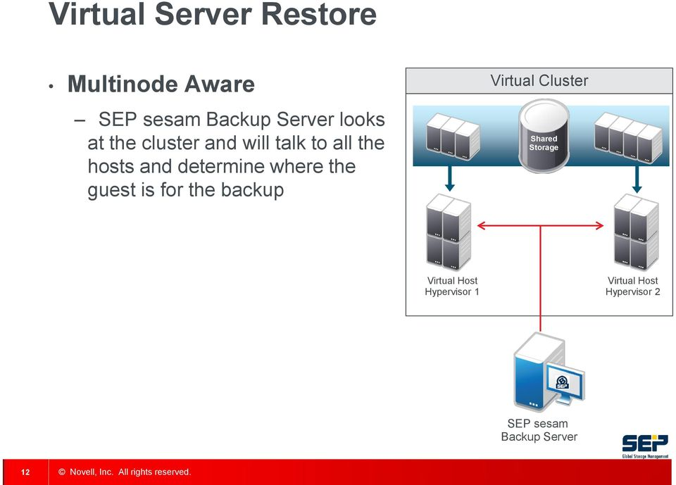 where the guest is for the backup Virtual Cluster Shared Storage