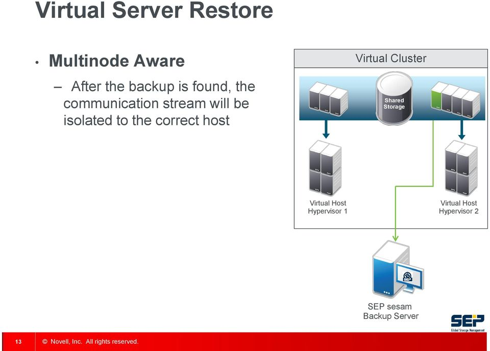 correct host Virtual Cluster Shared Storage Virtual Host