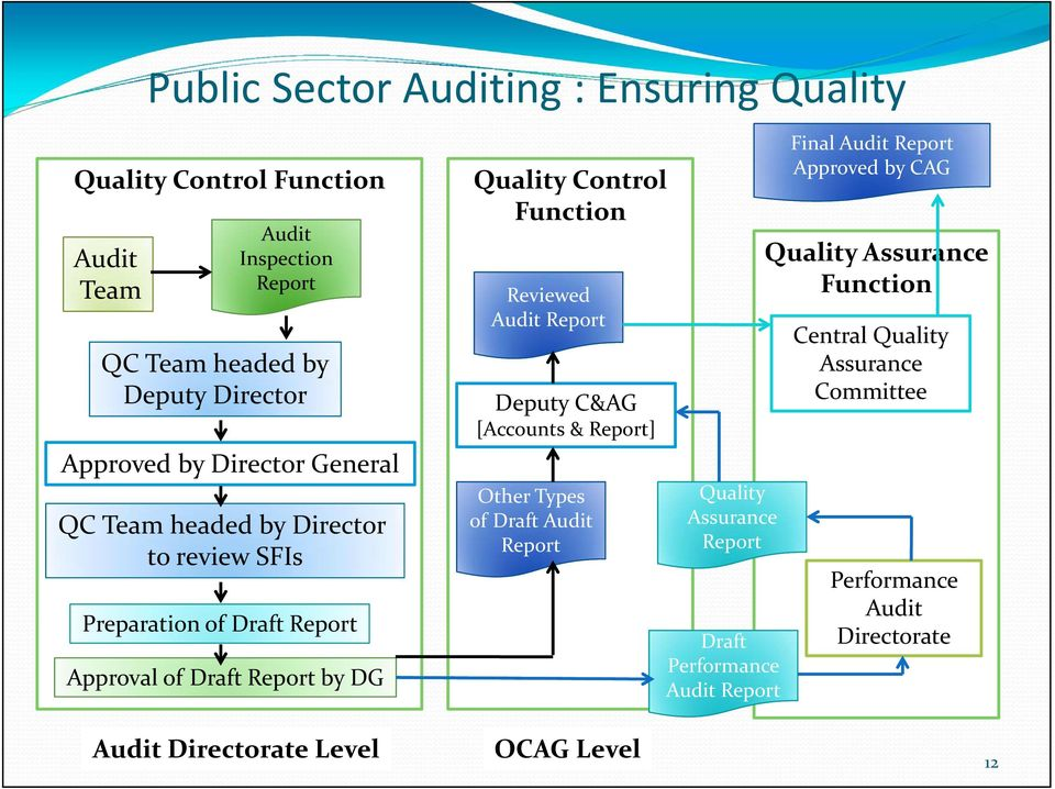 Control Function Reviewed Report Deputy C&AG [Accounts & Report] Other Types of Draft Report Quality Assurance Report Draft