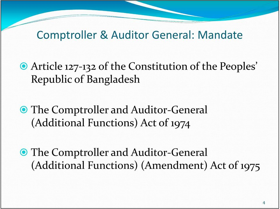 Comptroller and or General (Additional Functions) Act of 1974