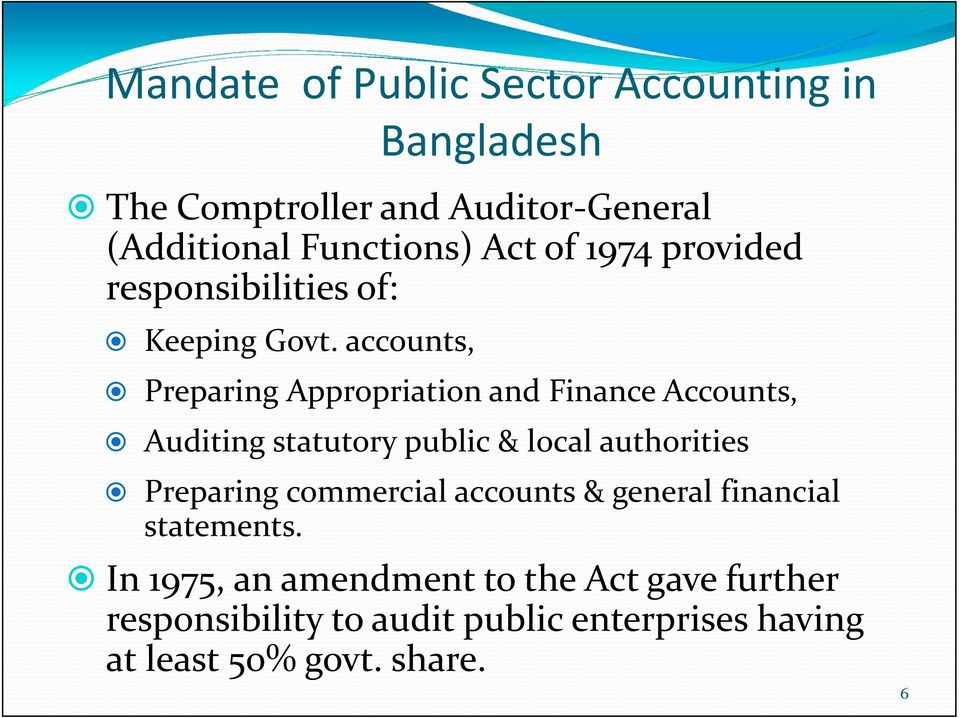 accounts, Preparing Appropriation and Finance Accounts, ing statutory public & local authorities Preparing
