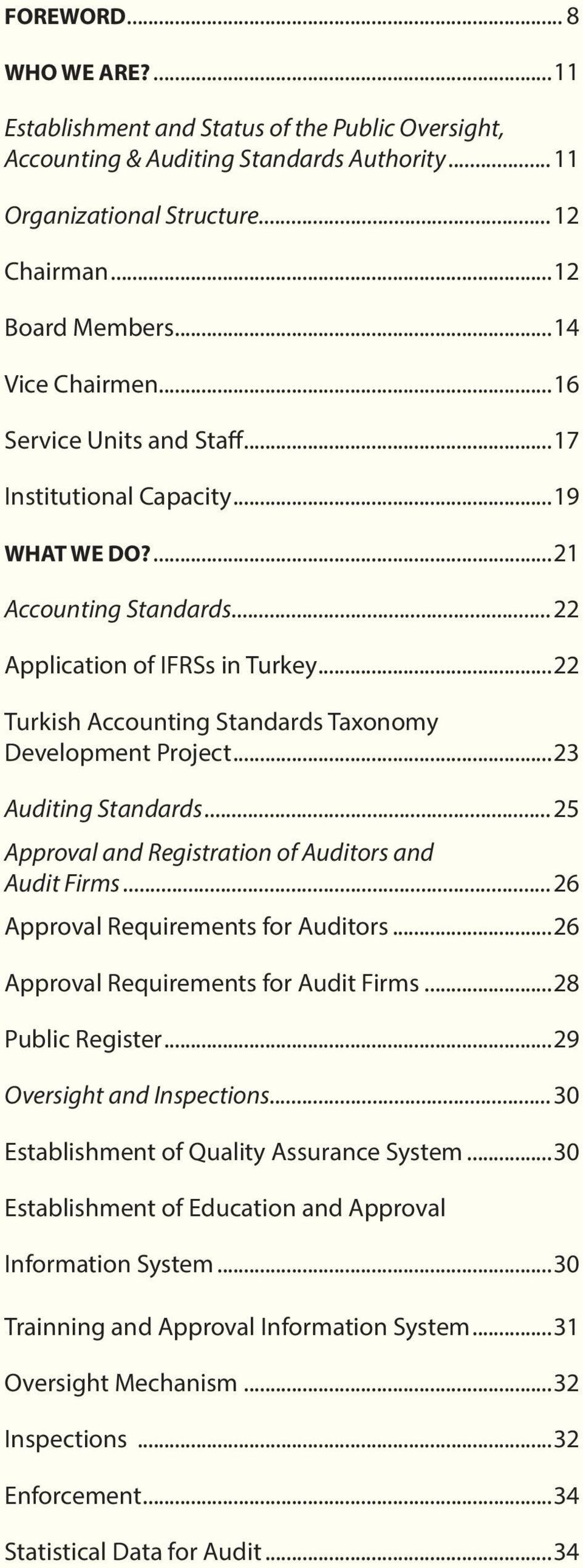 ..22 Turkish Accounting Standards Taxonomy Development Project...23 Auditing Standards...25 Approval and Registration of Auditors and Audit Firms...26 Approval Requirements for Auditors.