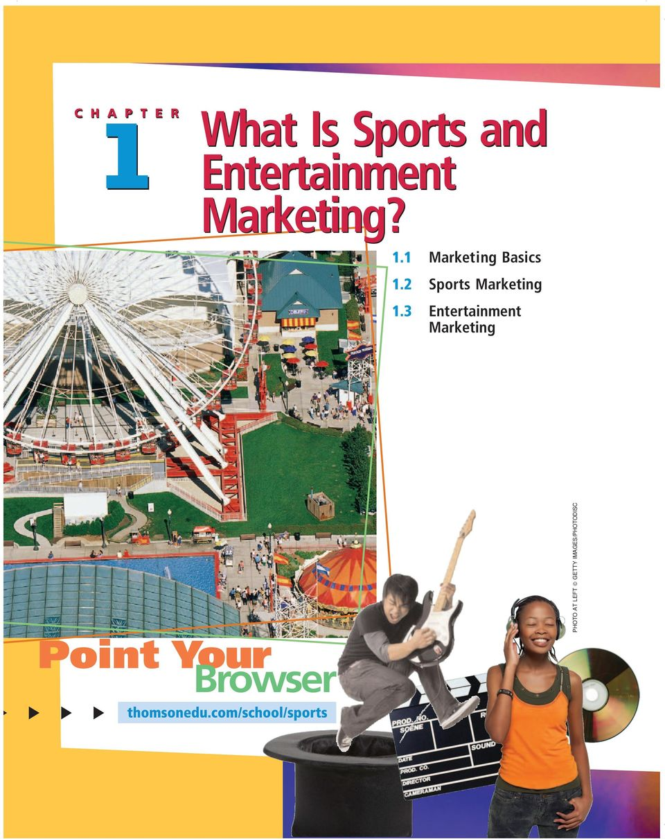 1 Marketing Basics 1.2 Sports Marketing 1.