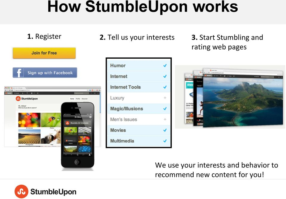 Start Stumbling and rating web pages We