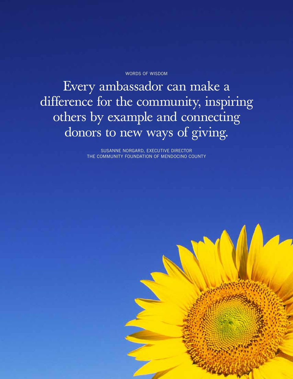 new ways of giving.