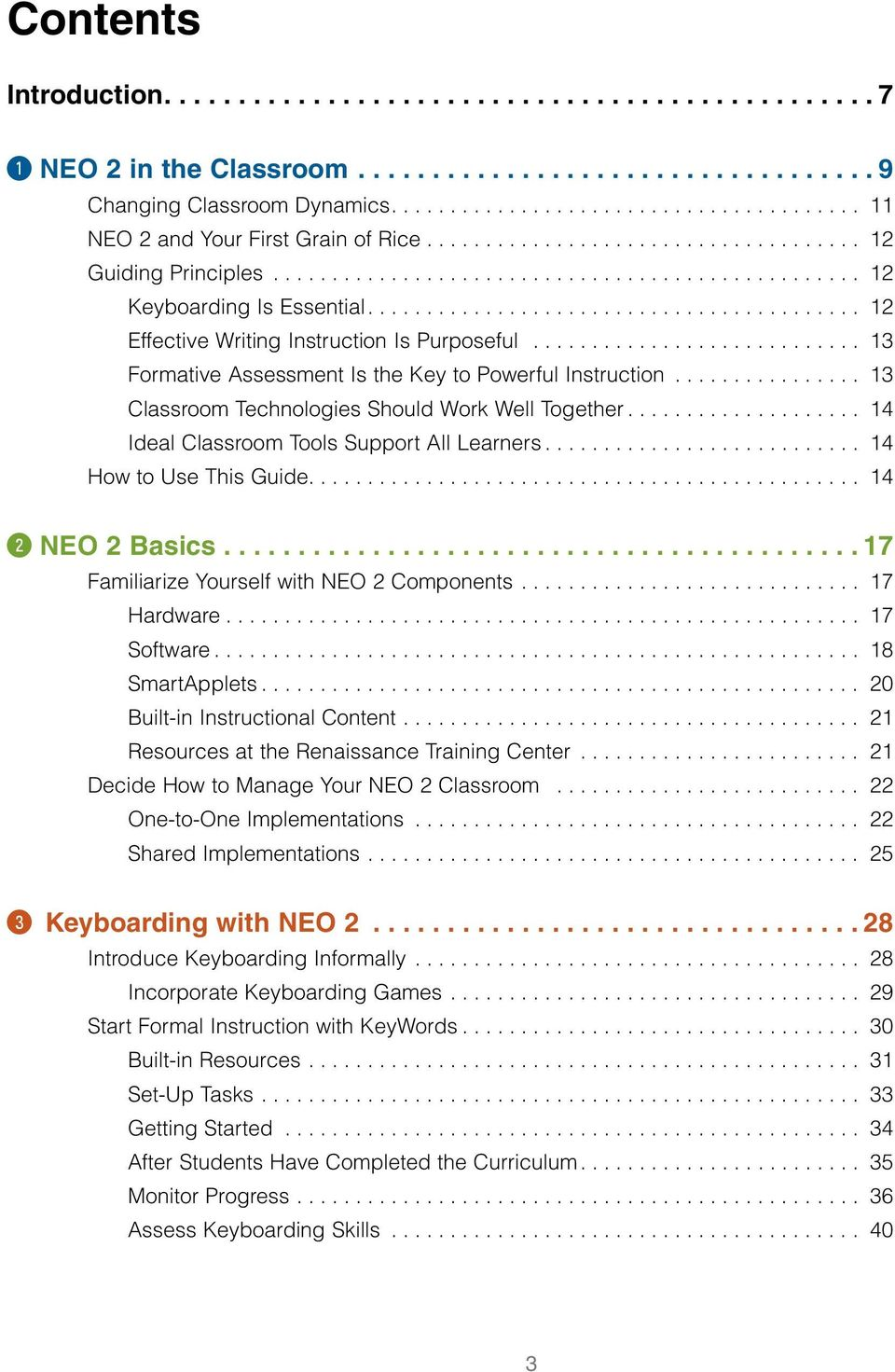 .. 14 Ideal Classroom Tools Support All Learners... 14 How to Use This Guide.... 14 w NEO 2 Basics... 17 Familiarize Yourself with NEO 2 Components... 17 Hardware... 17 Software... 18 SmartApplets.