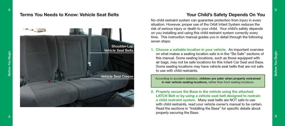 Your child s safety depends on you installing and using this child restraint system correctly every time.