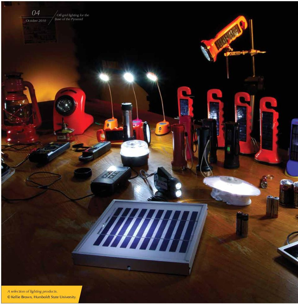 selection of lighting products.