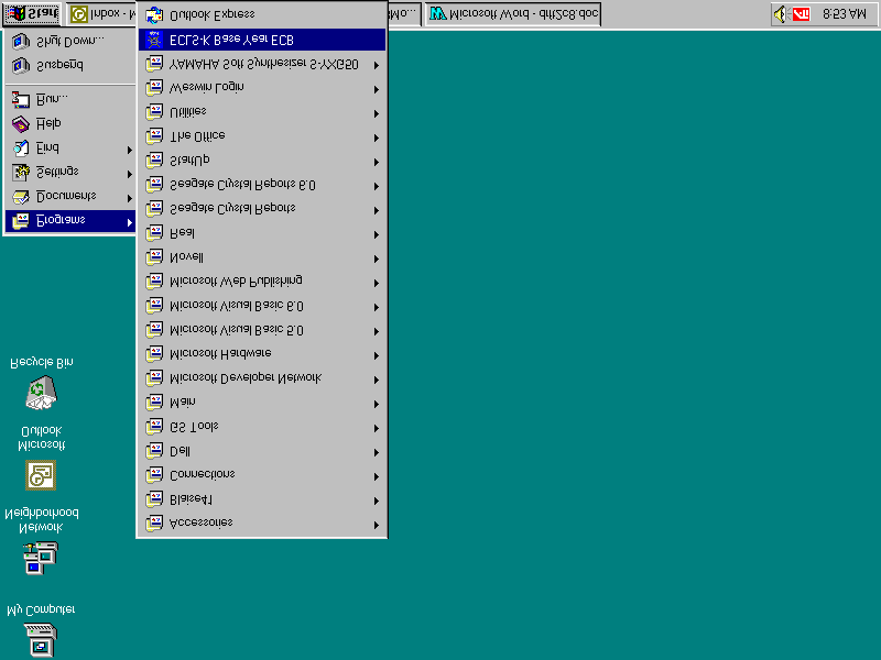 Make sure the ECLS-K ECB CD-ROM is in the CD-ROM drive before starting. The program will automatically find the file Setup.exe in the ECB and begin installation.