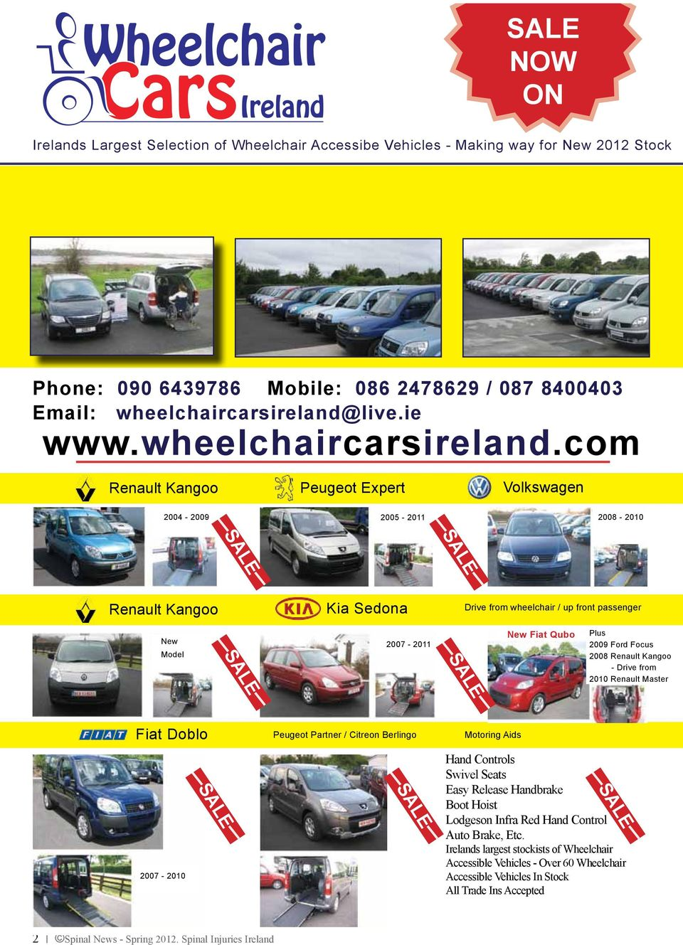 live.ie www.wheelchaircarsireland.