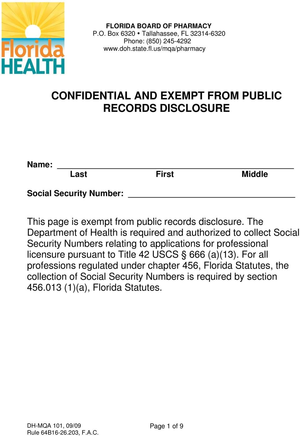 records disclosure.