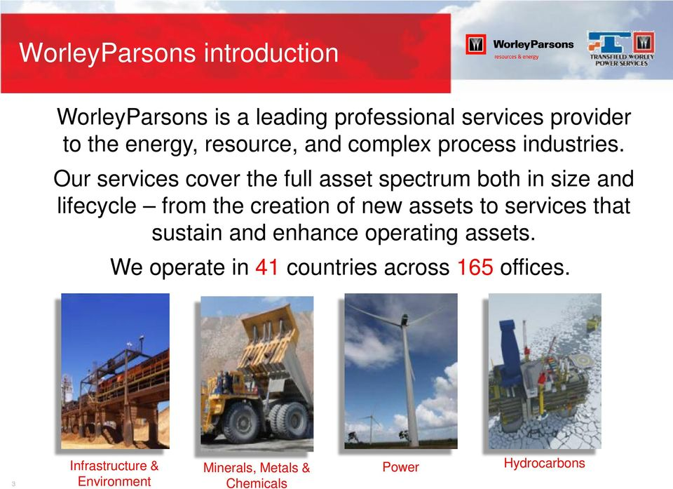 Our services cover the full asset spectrum both in size and lifecycle from the creation of new assets to