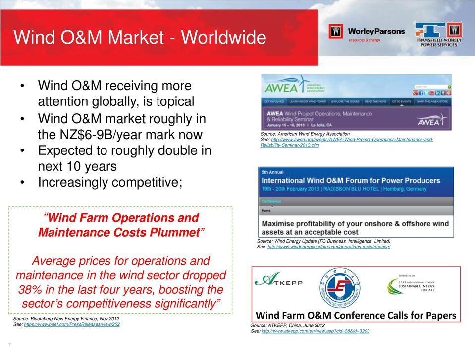 cfm Wind Farm Operations and Maintenance Costs Plummet Average prices for operations and maintenance in the wind sector dropped 38% in the last four years, boosting the sector s competitiveness