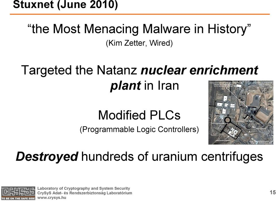 enrichment plant in Iran Modified PLCs (Programmable