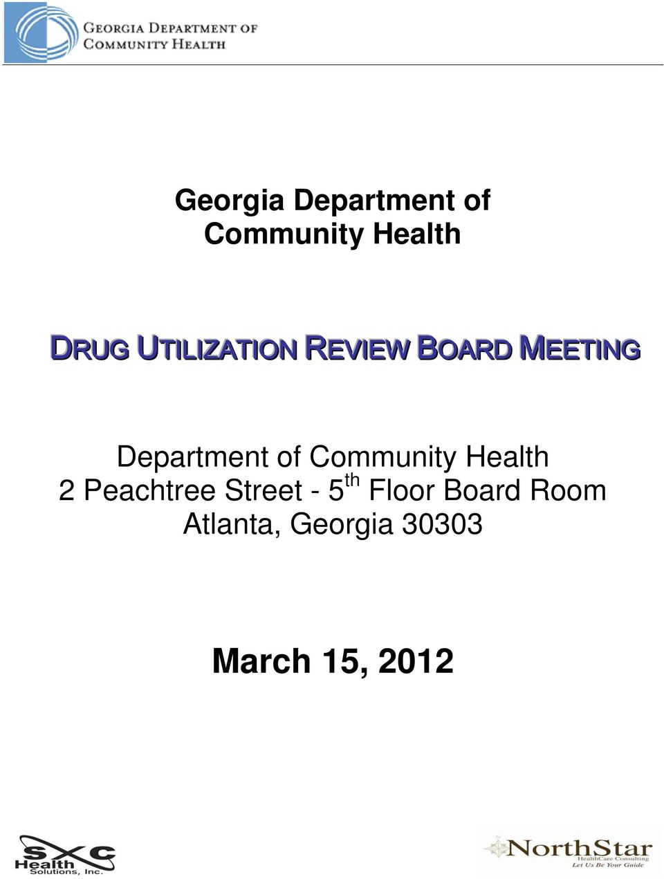 of Community Health 2 Peachtree Street - 5 th