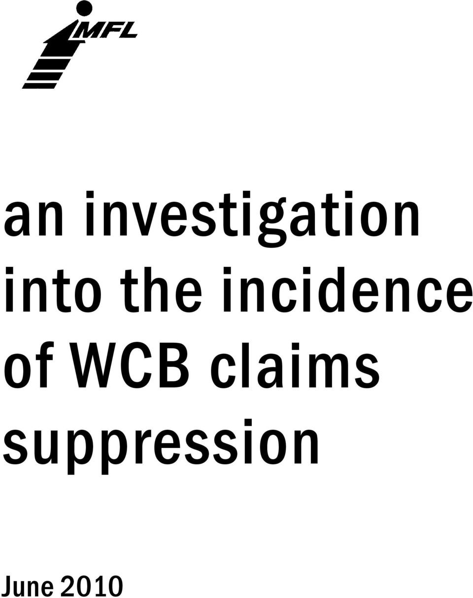 incidence of WCB