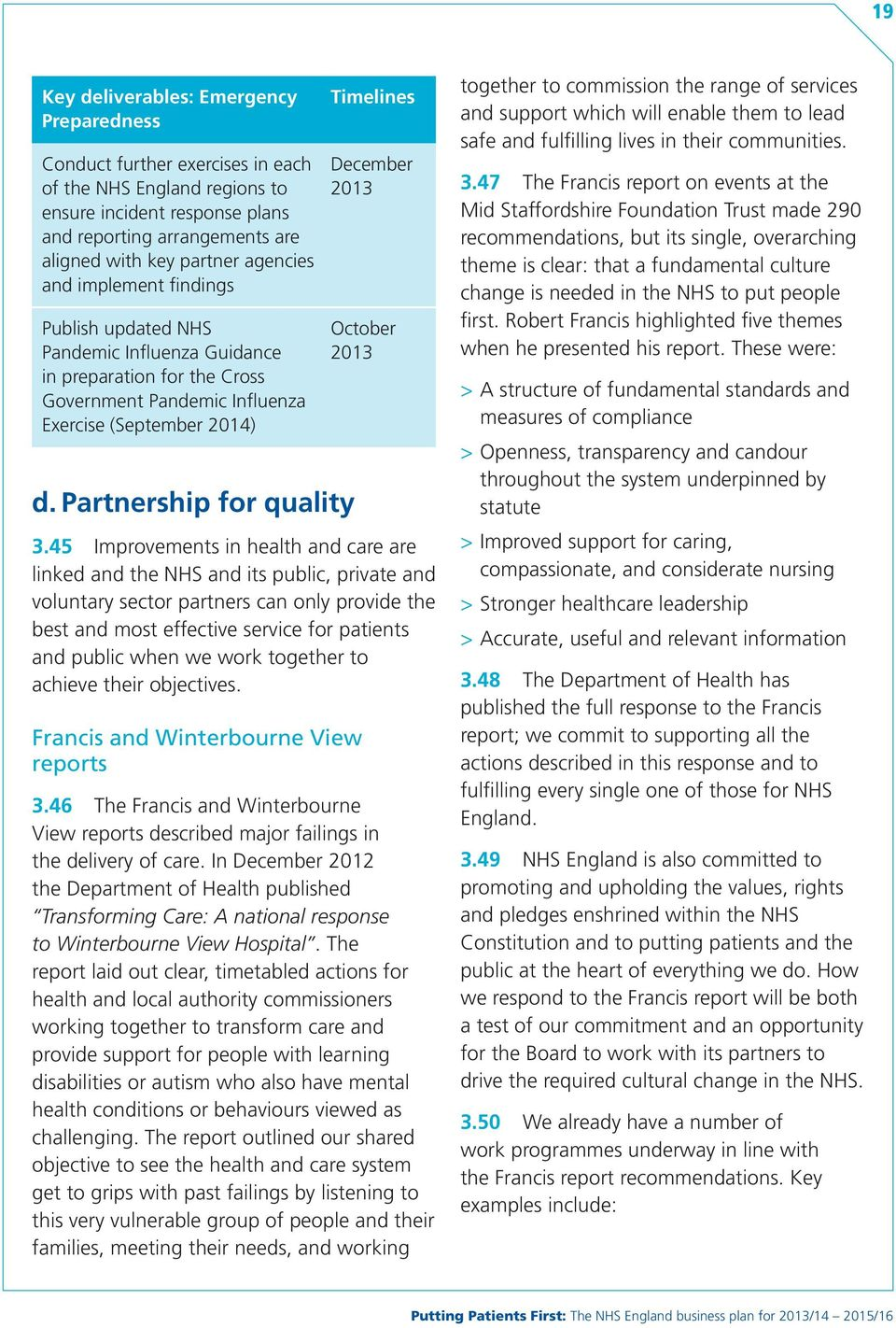 2014) d. Partnership for quality 3.