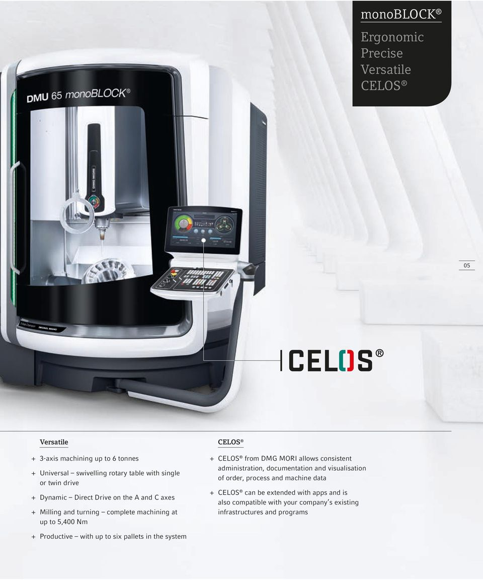 CELOS from DMG MORI allows consistent administration, documentation and visualisation of order, process and machine data + + CELOS can be
