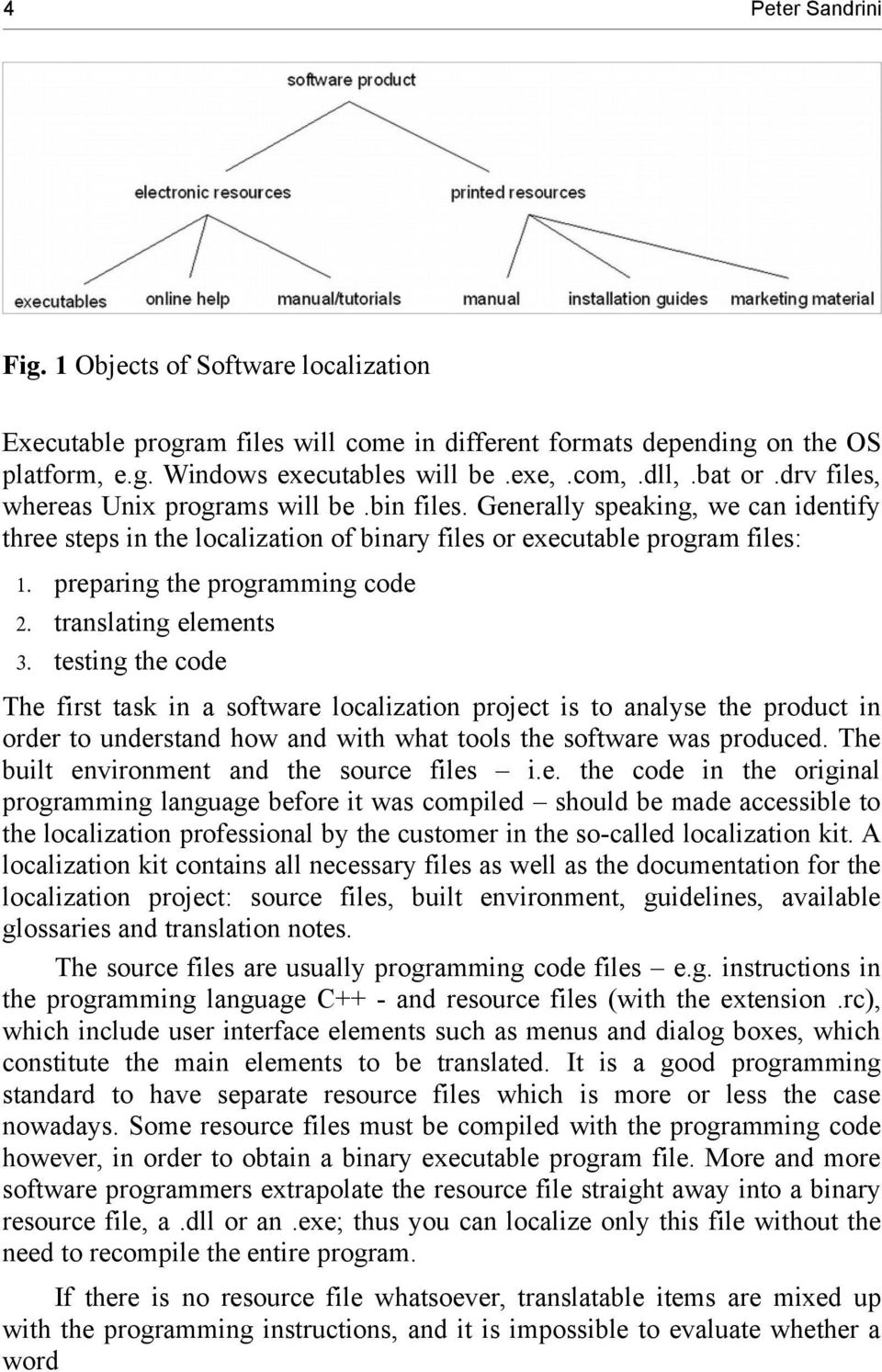 preparing the programming code 2. translating elements 3.