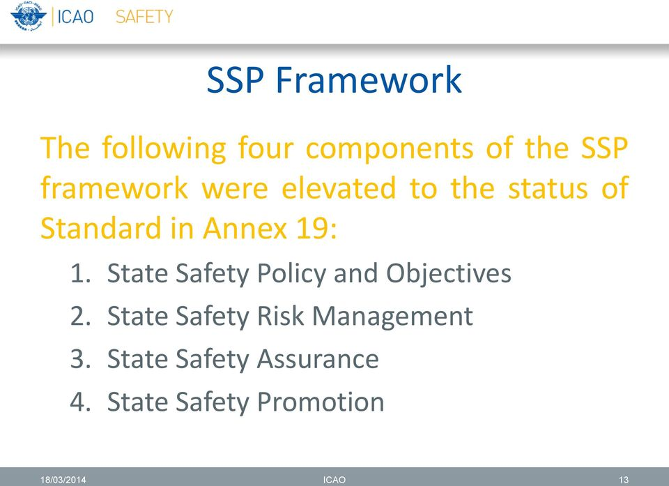 1. State Safety Policy and Objectives 2.