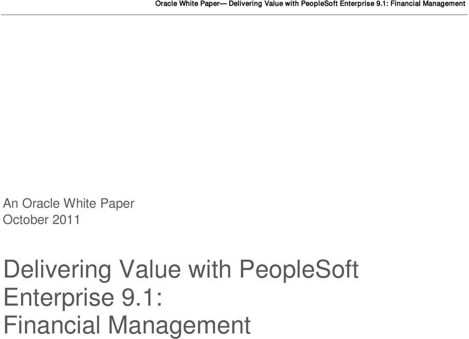Value with PeopleSoft